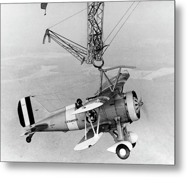 Curtiss F9c-2 'sparrowhawk' Fighter Plane Metal Print by Us Navy/science Photo Library