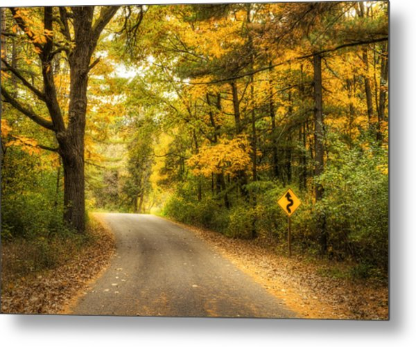 Curves Ahead Metal Print