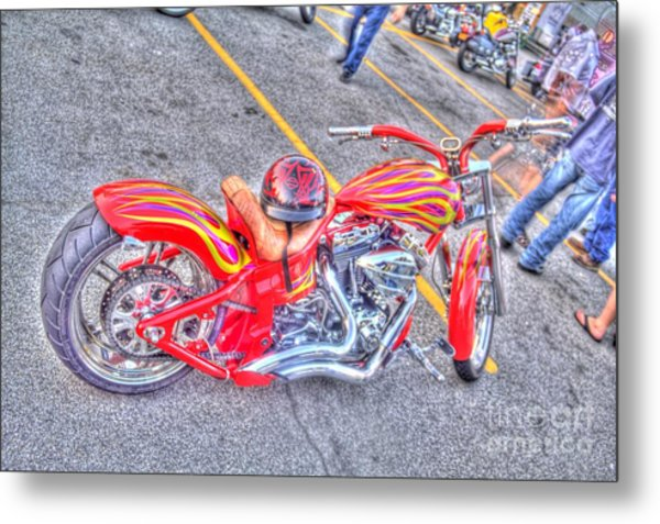 Custom Bike Metal Print