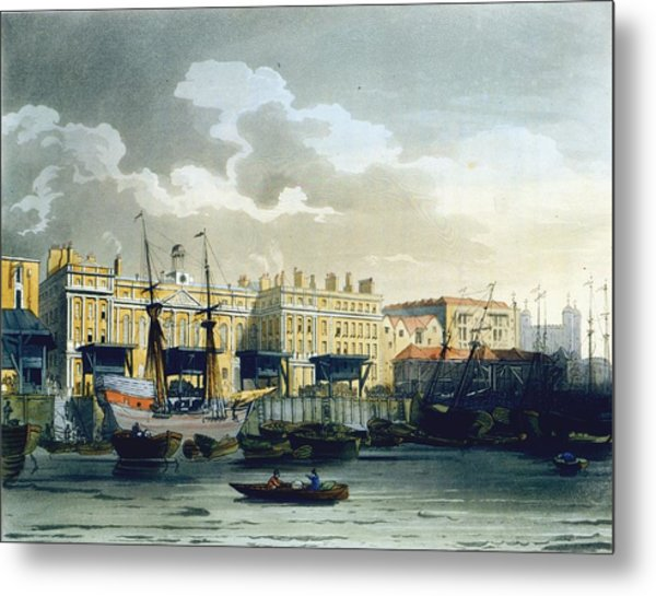 Custom House From The River Thames Metal Print