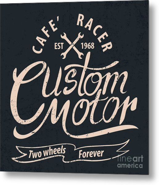 Custom Motor Typographic For Metal Print