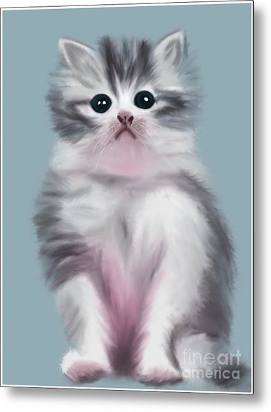Cute Kitten Metal Print