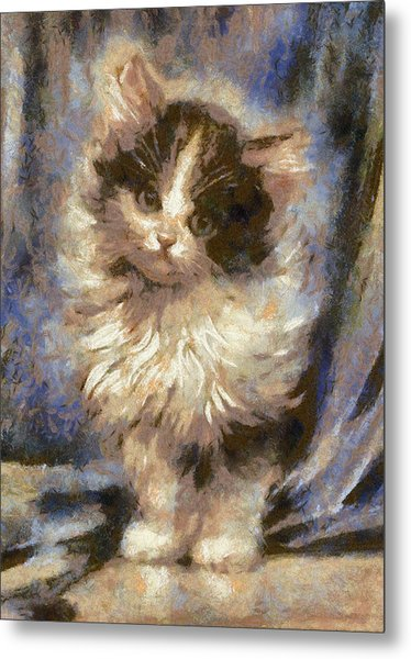 Cute Kitty Metal Print