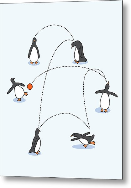 Cute Penguin Art Metal Print