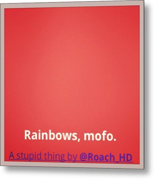 #cute Rainbow #background #effect With Metal Print
