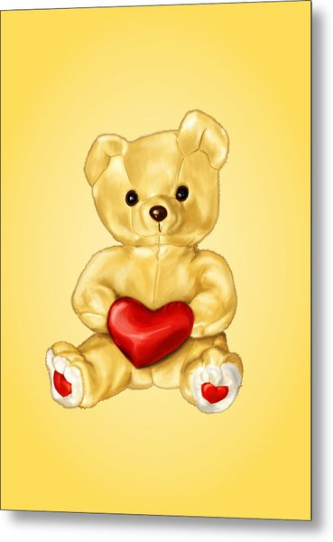 Cute Teddy Bear Hypnotist Metal Print
