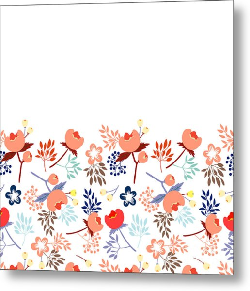Cute Vector Seamless Pattern With Metal Print by Vavavka
