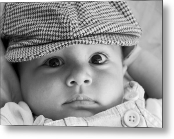 Cutest Hat Head Metal Print by Stephanie Grooms