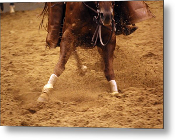 Cutting Horse 6 Metal Print