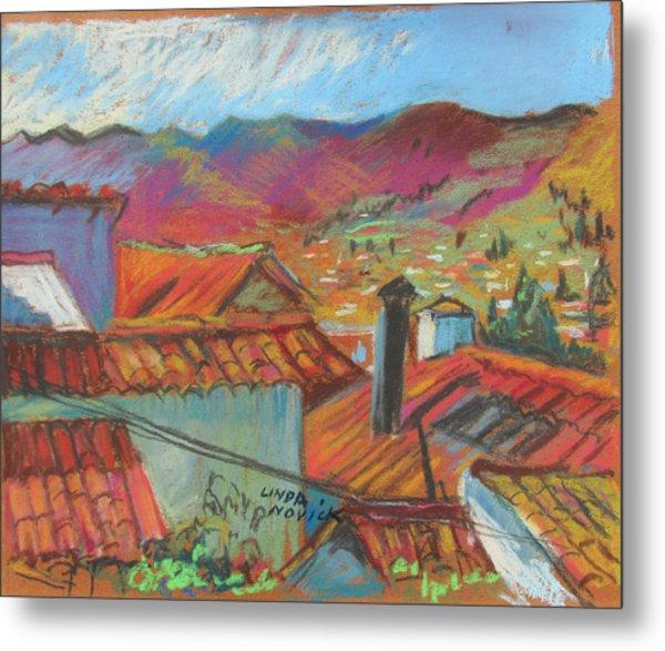 Cuzco Rooftops Metal Print