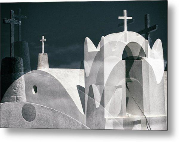 Cycladen Crosses Metal Print