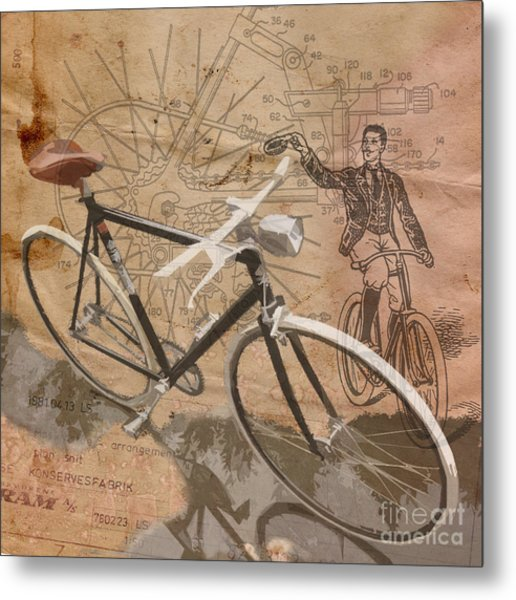 Cycling Gent Metal Print
