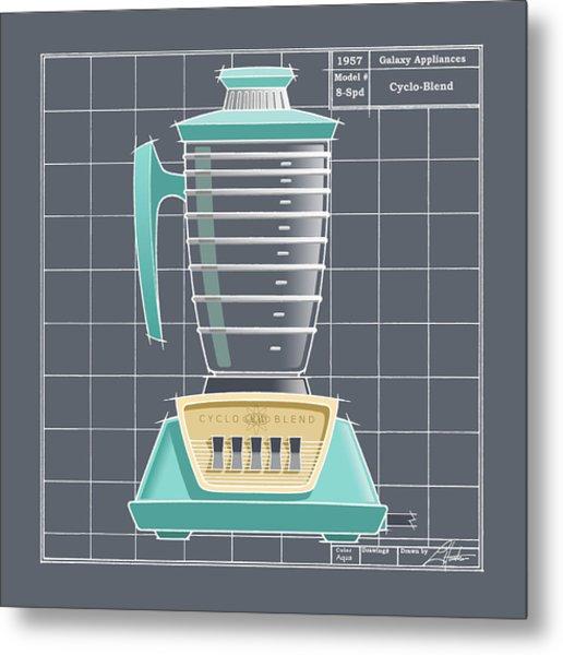 Cyclo-blend - Aqua Metal Print