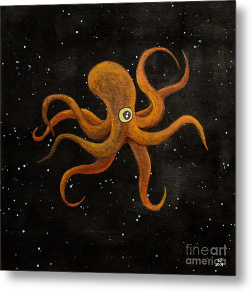 Cycloptopus Black Metal Print