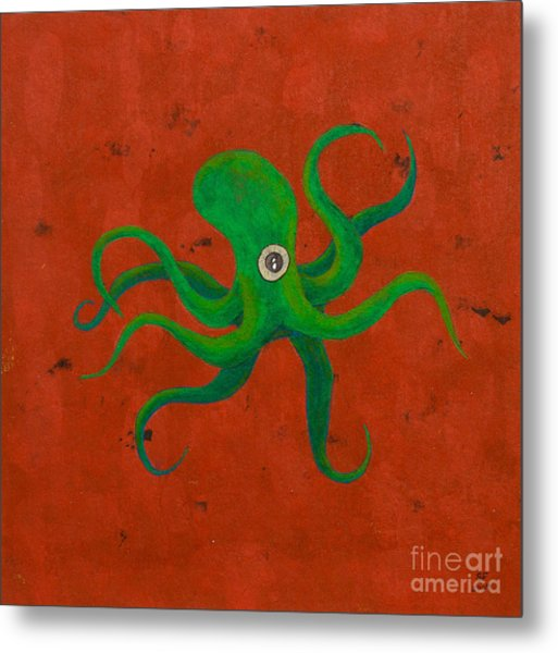Cycloptopus Red Metal Print