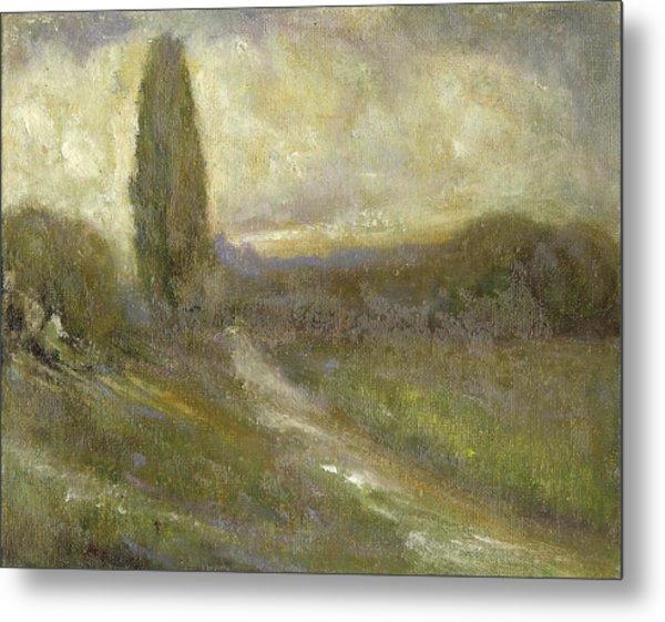 Cypress Landscape Metal Print