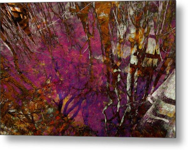 Cypress Swamp Abstract #2 Metal Print