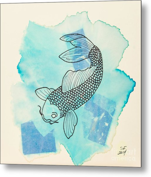 Cyprinus Carpio Metal Print