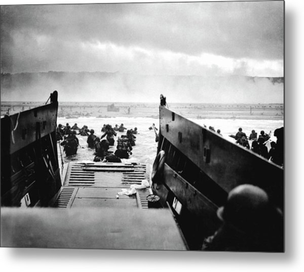 D-day Landings Metal Print by Robert F. Sargent, Us Coast Guard
