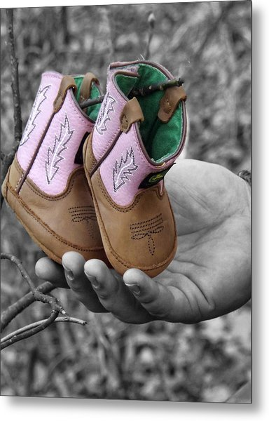Daddy's Lil Country Girl Metal Print