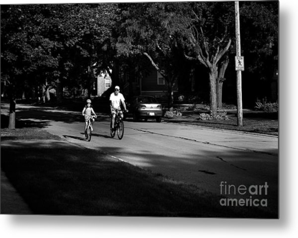 Daddy's Shadow Metal Print