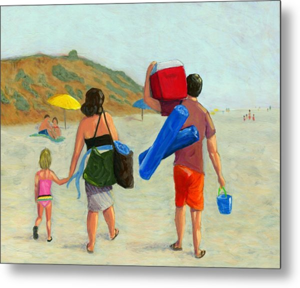 Dad's Day Off Metal Print