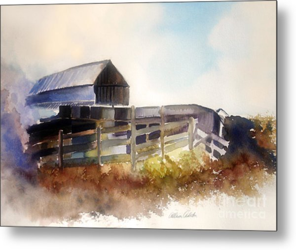 Dad's Farm Metal Print