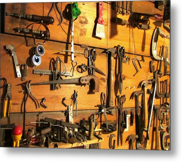 Dads Tools Metal Print by Will Boutin Photos