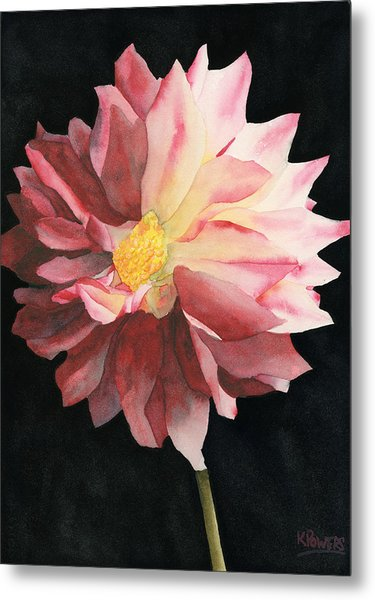 Metal Print featuring the painting Dahlia by Ken Powers