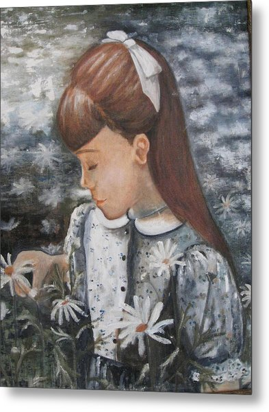 Daisey Girl Metal Print