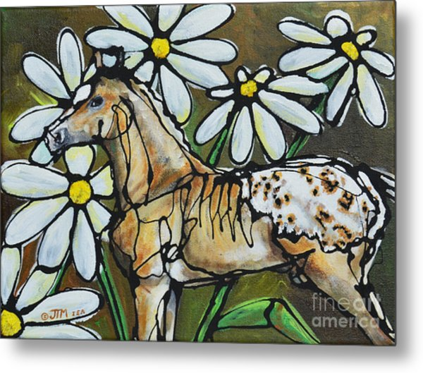 Daisies On My Britches Metal Print