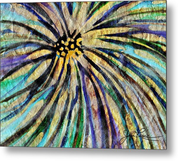 Metal Print featuring the painting Daisy Blue by Joan Reese