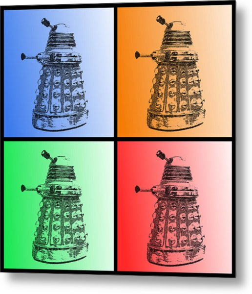 Dalek Pop Art Metal Print
