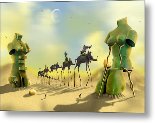 Dali On The Move  Metal Print