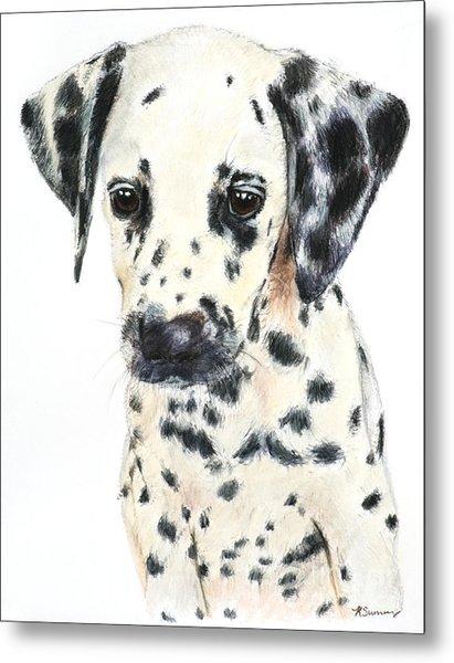 Dalmatian Puppy Painting Metal Print