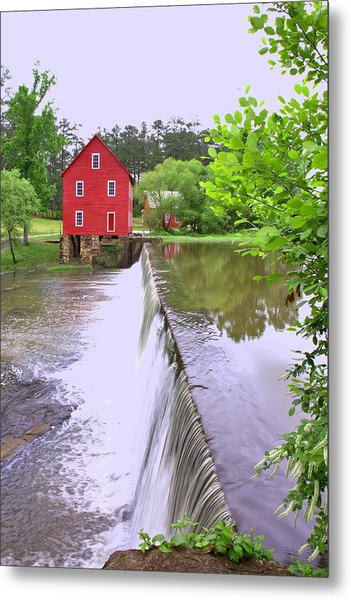 Dam At Starrs Mill Metal Print