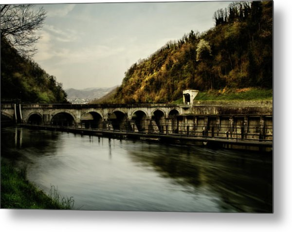 Dam On Adda River Metal Print