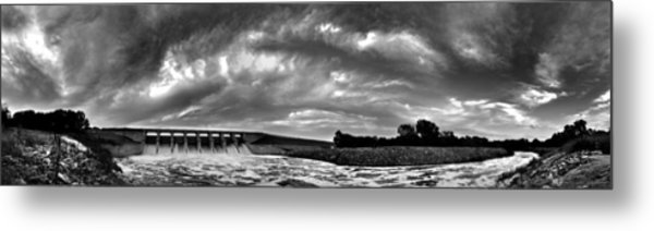 Dam Panoramic Metal Print