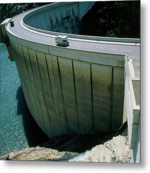 Dam Used For Hydroelectric Power Generation Metal Print by Science Photo Library