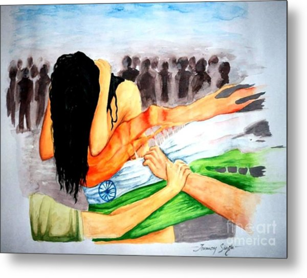 Delhi Gang Rape A Tragedy Metal Print by Tanmay Singh