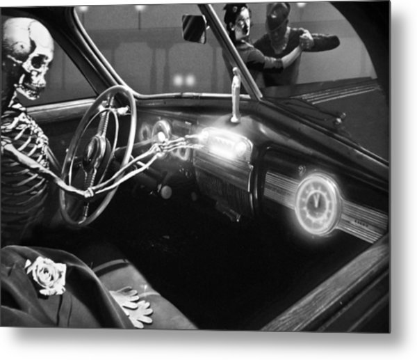 Dance Of Death Metal Print by Larry Butterworth