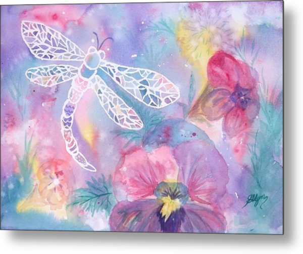 Dance Of The Dragonfly Metal Print