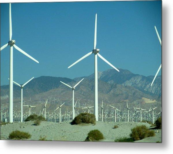 Dance Of The Wind Turbines Metal Print