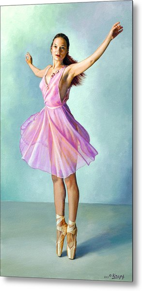 Dancer In Pink Metal Print