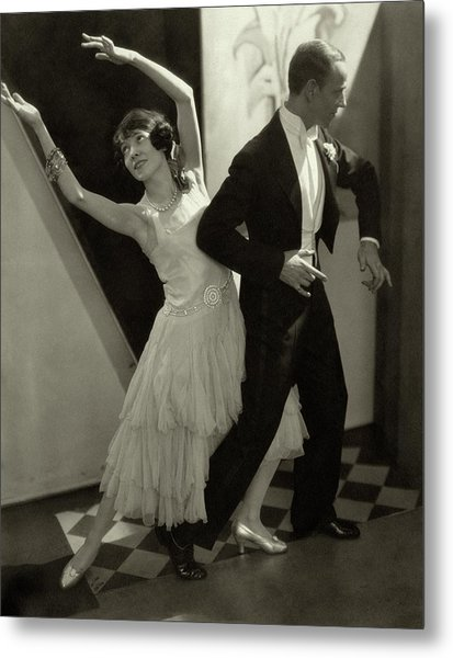 Dancers Fred And Adele Astaire Metal Print by Edward Steichen