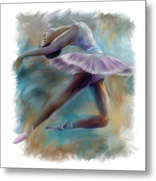 Dancing Ballerina Metal Print by Bijan Studio
