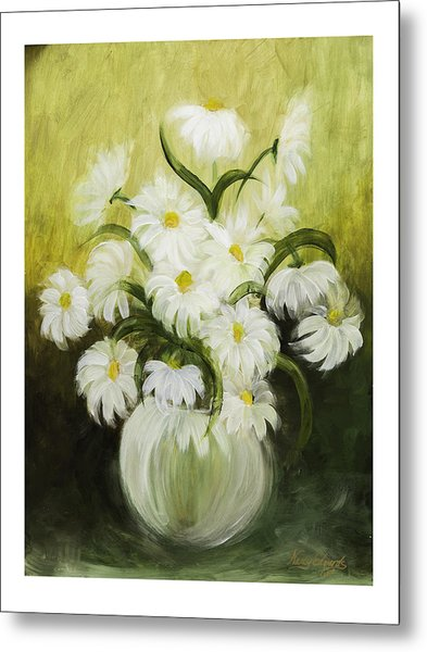Dancing Daisies Metal Print by Nancy Edwards
