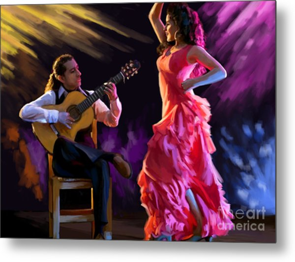 Dancing Gypsy Woman Metal Print