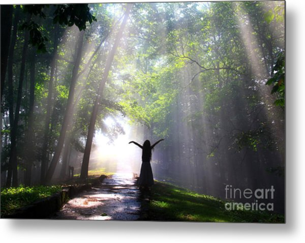 Dancing In God's Light Copyright Willadawn Photography Metal Print