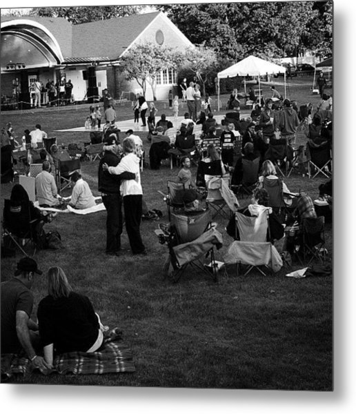 Dancing In The Park Metal Print